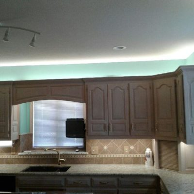 Residential Electrician, Kitchen Cabinet LED Lighting, Home Electrician