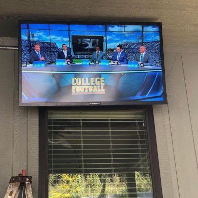 Exterior TV Install